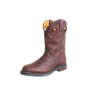 Rocky Mens Leather Mid-Calf Cowboy, Western Boots