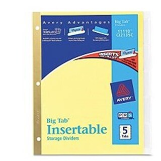 Avery 11110 Avery 11110 Clear Insertable Dividers 5 Count
