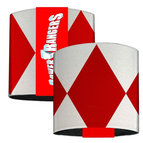 Red Ranger Sleeve Diamonds White Red Elastic Wrist Cuff