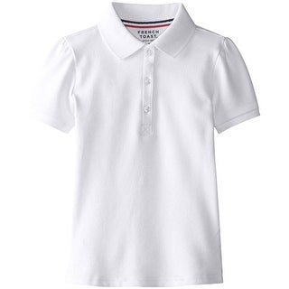 French Toast Girls 4-6X Short Sleeve Pique Polo