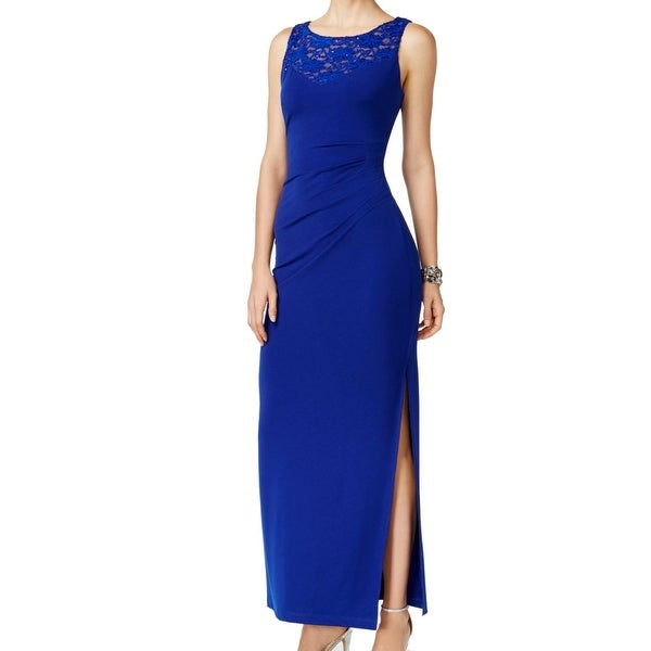 bebe7d82 Shop Connected Apparel NEW Blue Nude Women's Size 6 Sheath Sequin Dress - Free  Shipping On Orders Over $45 - Overstock - 17101194
