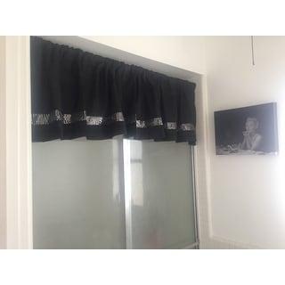 Lush Decor Black/ Grey Faux Silk Night Sky Window Valance