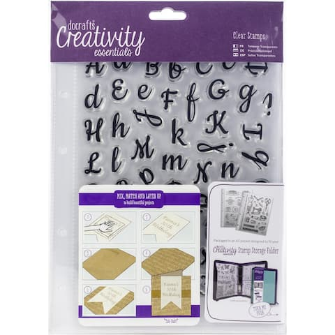 Creativity Essentials A5 Clear Stamp Set 67/Pkg-Script Alphabet
