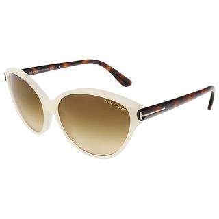 Tom Ford FT0342/S 20F Priscila Pearl White Cateye Sunglasses