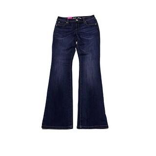 Inc International Concepts Indigo Wash Slim Bootcut Jeans
