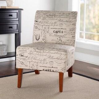 Porch & Den Bonner Written Text Print Accent Chair