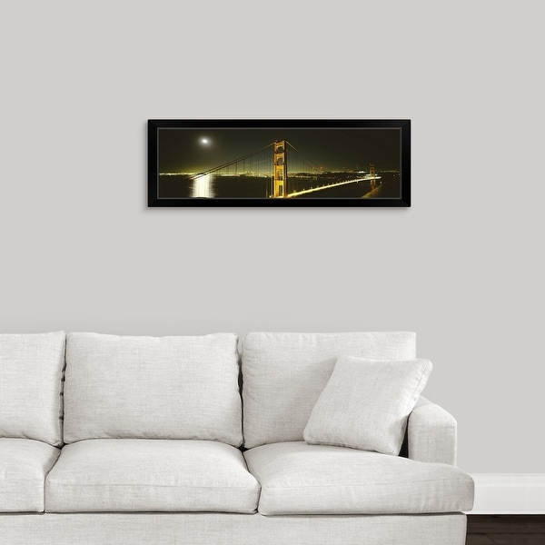 """Suspension bridge across the sea Golden Gate Bridge San Francisco California"" Black Framed Print"