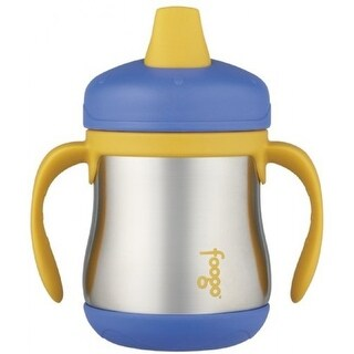 THERMOS FOOGO Vacuum Insulated 7 oz Sippy Cup w/ Handles (Blue/Yellow)