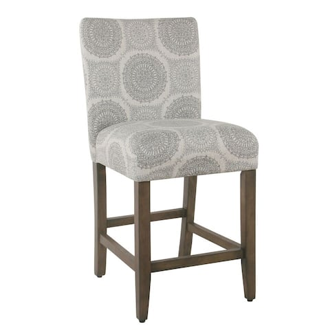 "Homepop 24"" Parsons Counter Stool - Gray Medallion"