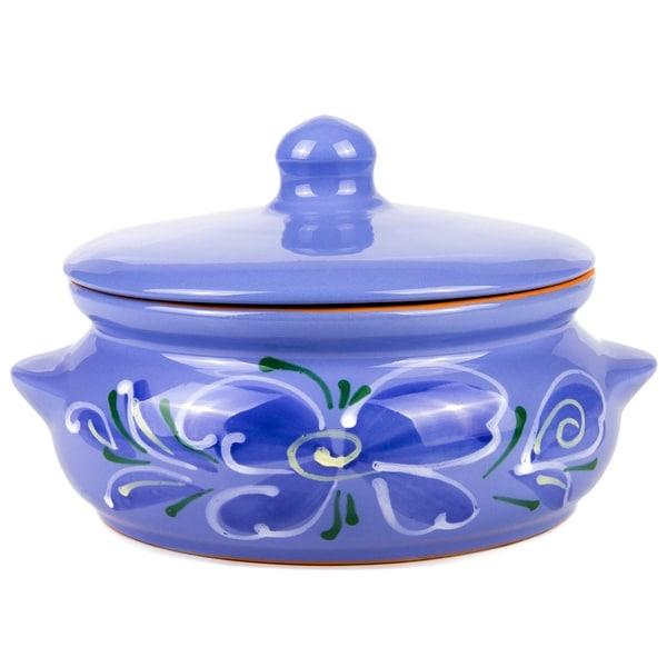 STP Goods 24 fl oz Blue Flower Stewing Stoneware Ramekin. Opens flyout.
