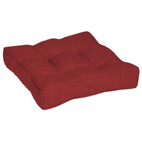 Arden Selections Ruby Leala Outdoor 25 in. Floor Cushion - 25 in L x 25 in W x 6 in H