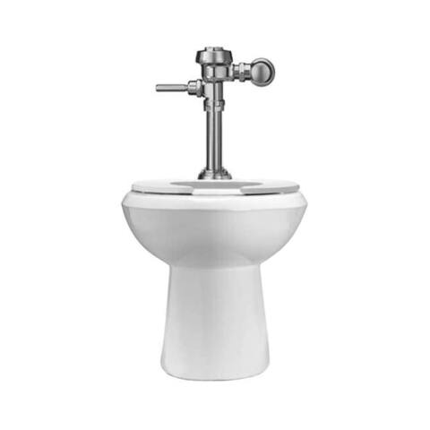 Sloan WETS-2003.1001 1.6 One Piece Elongated Standard Height Toilet with Royal Flushometer less Seat