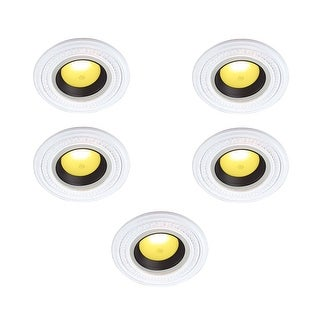 White Urethane Spot Light Trim Recessed Durable Foam 6-1/2 ID Pack of 5