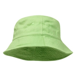 Pigment Dyed Bucket Hat-Apple Green