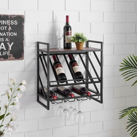 Buy Wall Mount Wine Racks Online At Overstock Our Best Kitchen Storage Deals