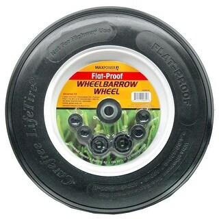 Maxpower Precision Parts Wheelbarrow Wheel Flat Proof, Black