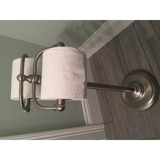 Vintage Dual Freestanding Pedestal Toilet Tissue Holder