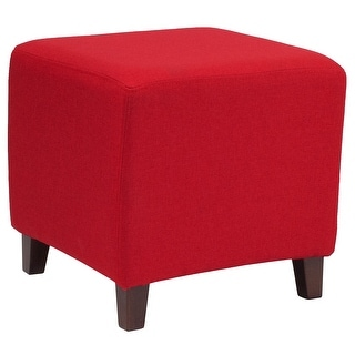 Link to Taut Upholstered Cube Ottoman Pouf - Home Furniture Similar Items in Living Room Furniture