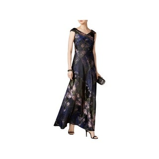 R&M Richards Womens Plus Evening Dress Lace Sleeveless