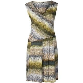 Nic + Zoe Womens Plus Stretch Gathered Casual Dress - 1X