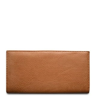 "Link to 7.25"" Camel Brown Rectangular Vegan Leather Wallet Similar Items in Gloves"