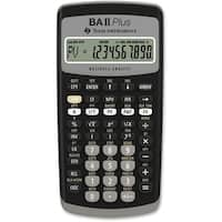 """Texas Instruments BAIIPLUS Texas Instruments BA-II Plus Adv. Financial Calculator - 10 Digit(s) - LCD - Battery Powered -"