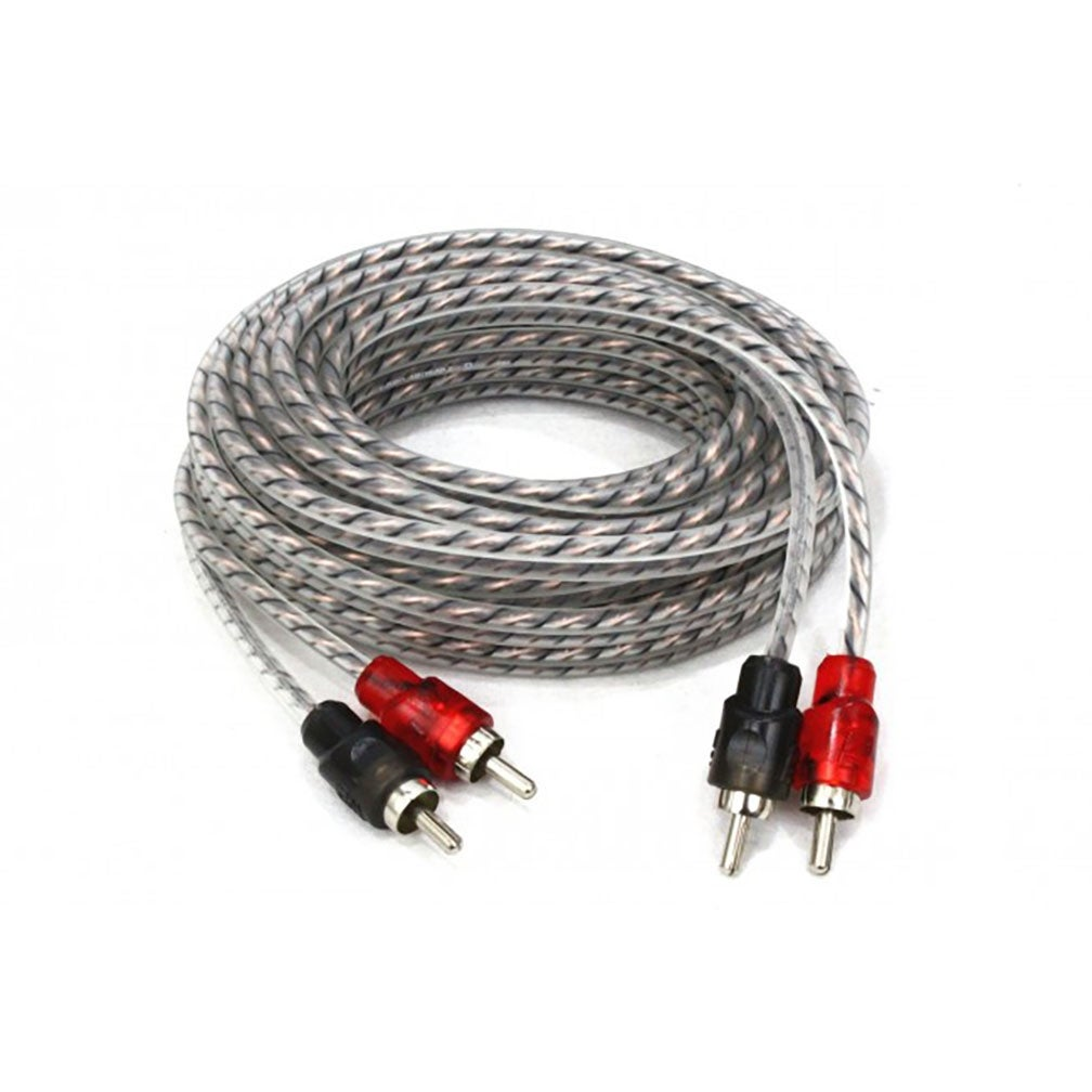 Cerwin Vega CRH17 HED Series 2 CH RCA Cable 17ft Twisted Pair Single Molded Ends