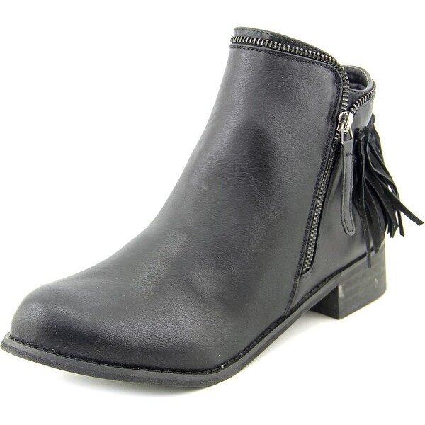Wanted Abilene Women Round Toe Synthetic Black Ankle Boot