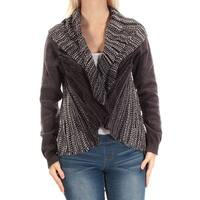STYLE & COMPANY Womens Purple Long Sleeve Open Top  Size: S
