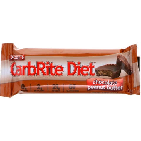 Universal Nutrition Doctor's CarbRite Diet Bars -12 Bars-Chocolate Peanut Butter - 12 Bars