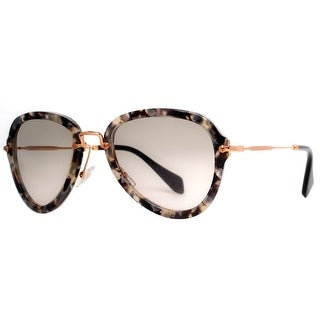 MIU MIU Aviator SMU 03Q Women's DHE 3H2 Havana Gray/Brown Brown Gradient Sunglasses - 55mm-24mm-140mm