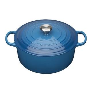 Link to Le Creuset Signature Cast Iron Round Casserole (2.75Qt,Marseille Blue) Similar Items in Cookware