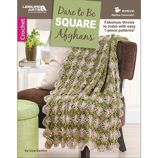 Leisure Arts-Dare To Be Square Afghans