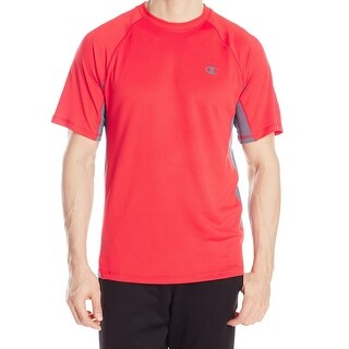 Champion NEW Red Mens Size Small S Colorblocked Performance Tee T-Shirt