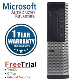 Refurbished Dell OPTIPLEX 790 Desktop Intel Core i5 2400 3.1G 16G DDR3 120G SSD DVD Windows 10 Pro 1 Year Warranty - Black