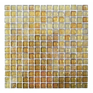 "Miseno MT-LEEDSIENNA3/4RECT Leed Sienna - 3/4"" X 1-1/4"" - Glass Visual - Wall Tile (Sold by Sheet)"