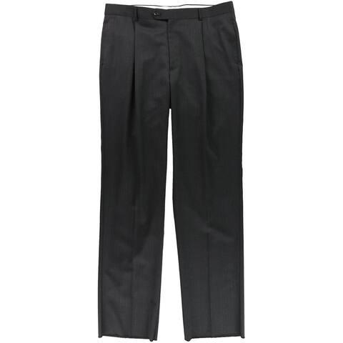 Jones New York Mens Heathered Dress Pants Slacks, Grey, 37.5W x 38L - 37.5W x 38L