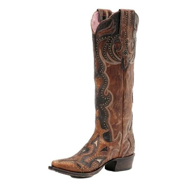 Miss Macie Western Boots Womens Martina Overlay Studs Brown