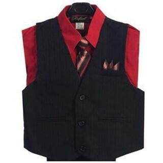 Angels Garment Red 4 Piece Pin Striped Vest Set Boys Suit 2T-4T