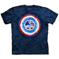 The Mountain Peace USA Flag Tie Dye T-Shirt
