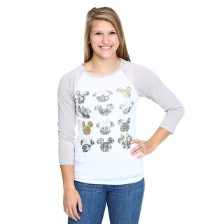 Womens Mickey & Minnie Silo Heads Raglan Shirt