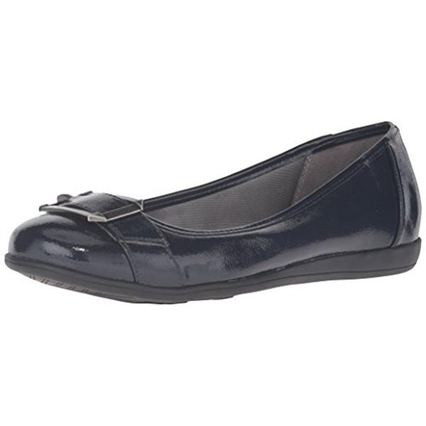 LifeStride Womens Carousel Flats Faux Leather Shimmer