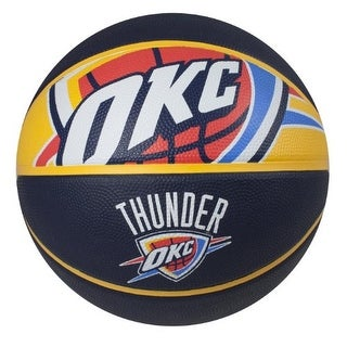 "Spalding NBA Court Side Oklahoma City Thunder Outdoor Basketball Size 7 (29.5"")"
