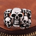 Vienna Jewelry Skull's Army Stainless Steel Ring - Thumbnail 2