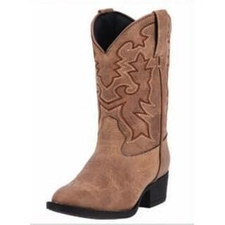 "Laredo Western Boots Boys Cowboy 8"" Cowboy R Toe Taupe LC2437"