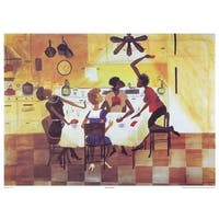 ''Six No Uptown'' by Annie Lee African American Art Print (21 x 29 in.)