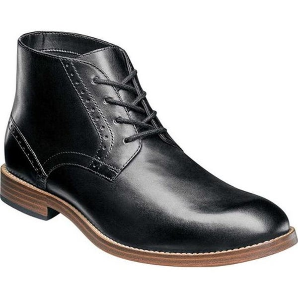 5c231a6330a60 Shop Nunn Bush Men s Middleton Plain Toe Chukka Boot Black Leather ...