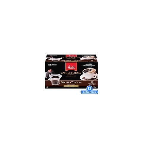 Melitta 75752 Espresso Toscana Hard Pod (Single Pack) Espresso Toscana Hard Pod 12 Counts