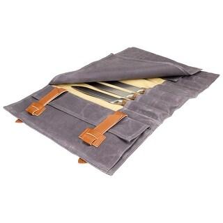 Zelancio Premium Knife Roll Bag I Waxed Canvas Knife Roll Bag I Ultra Portable And Safe Knife Storage Bag All Knife Sets
