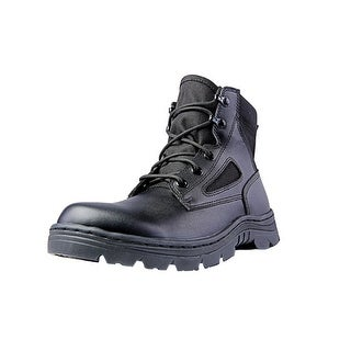 "Ridge Tactical Boots Mens Dura-Max Mid Zipper 6"" Shaft Black 4205"